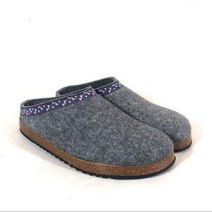 L.L.Bean Wool Slipper Clog in Shale Gray